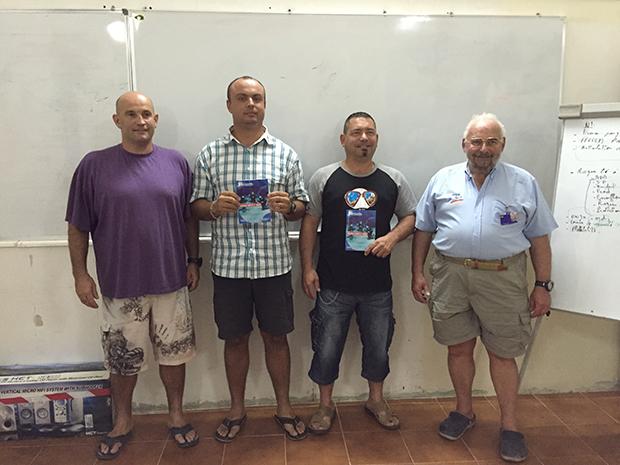 De gauche à droite: Pascal, Salim, Greg et Guy.