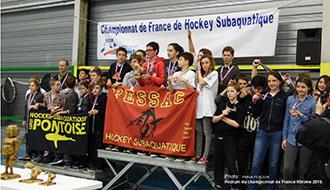 CHAMPIONNAT HOCKEY PESSAC-podium Minimes