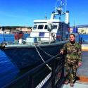 Emmanuelle  membre du groupe des plongeurs démineurs de Méditerranée